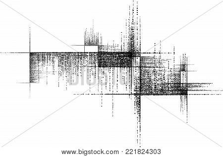 Black Grunge Vector Black and White Background  with Squares