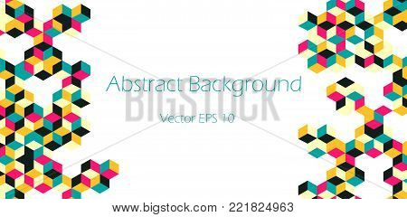 Cubic Graphic Pattern  - Abstract Vector Design
