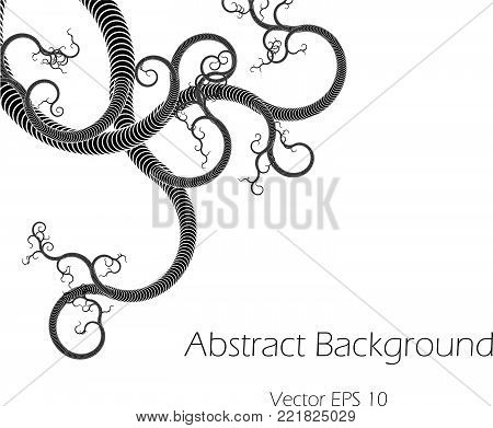 Abstract Vector Background  with Whorl Tentacles Plexus