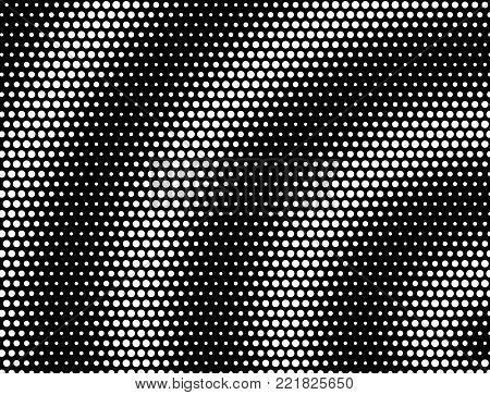 Concentrical Moire Stippled Halftone Background  - Grunge Vector Op Art