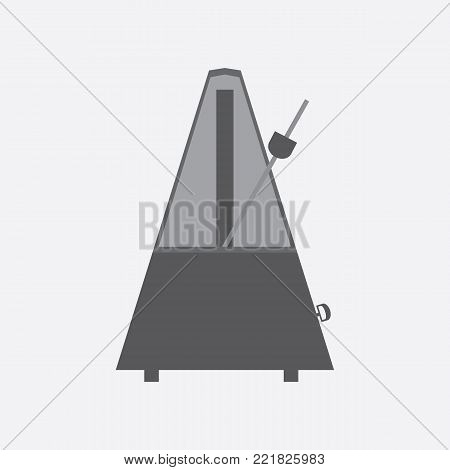 Metronome icon and vector on a white background