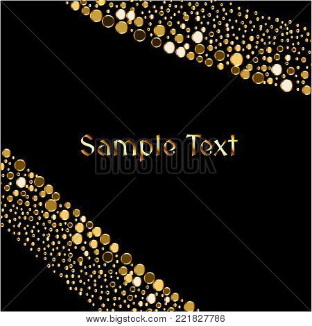 Vector Enchanting Gold Grainy Brilliance Dotted  Background
