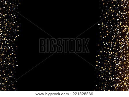 Vector Enchanting Gold Grainy Sturdust Scintilla Background