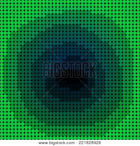 Green  Mosaic Hole Background  - Vector Flacky Effect