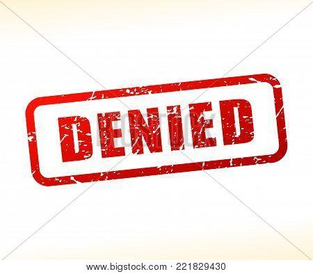 Illustration of denied text stamp concept design