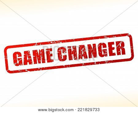 Illustration of game changer text stamp concept