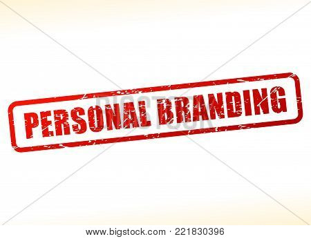 Illustration of personal branding text stamp concept