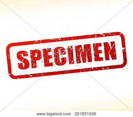 Illustration of specimen text stamp concept design