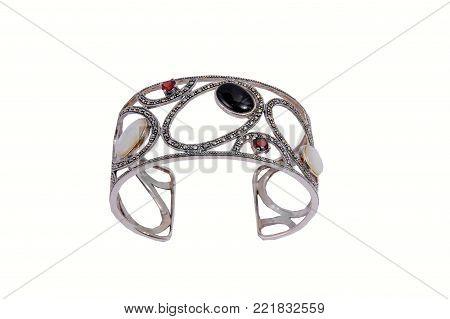 Woman luxury bracelet  jewelry isolated on white background