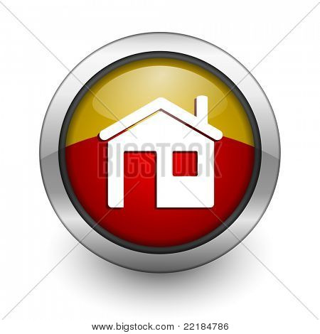 home red and yellow aqua button