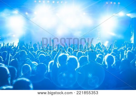 Concert Crowd at rock concert