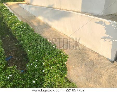 ramp way through the building at thailand