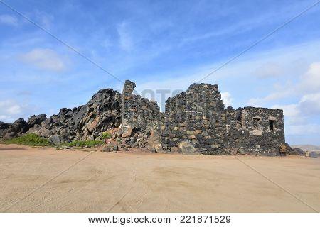 Huge ancient ruins of the Bushiribana gold mill