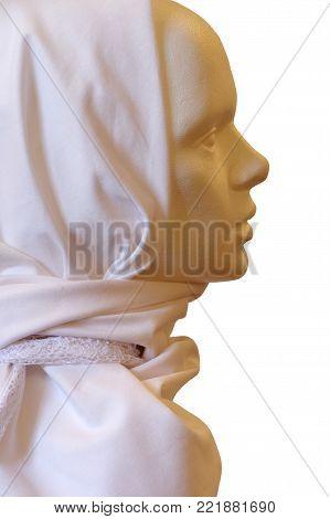 scarf clothing dummy objects isolated fashion theme