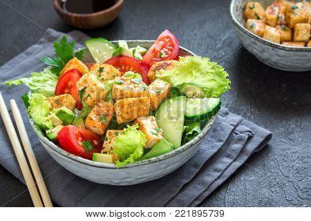 Fried Tofu Salad