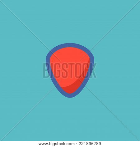 Icon flat shield element. Vector illustration of icon flat protection isolated on clean background. Can be used as shield, protection and safe symbols.