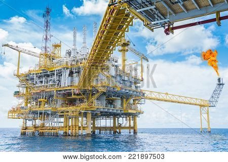 Oil and gas production platform, Oil and Gas  production and exploration business in the gulf of Thailand.