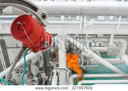 Fire and Gas detection system on oil and gas platform, petrochemical plant for detect flame and sent alarm signal to controller for shutdown platform.