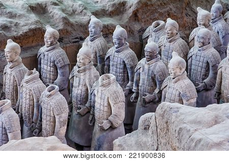 Xian, China - August 18, 2011: The Terracotta Army or the
