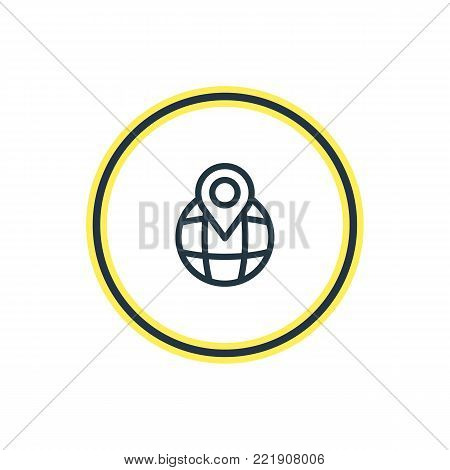 Vector illustration of pinpoint icon line. Beautiful community element also can be used as location element.