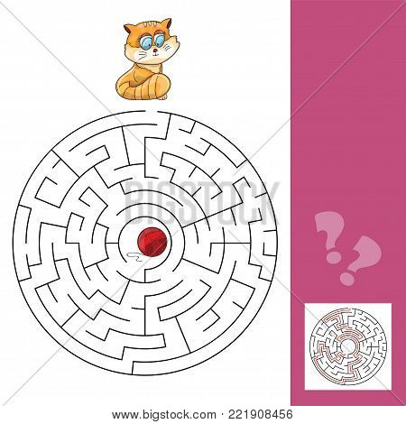 Kitten And Wool Ball Maze Game with Solution