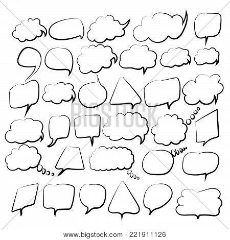 Speech big buble set . Vector illustration EPS 10