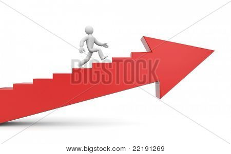 To success. Image contain clipping path
