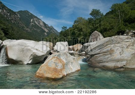 the beautiful valley of Verzasca in Ticino, Switzerland