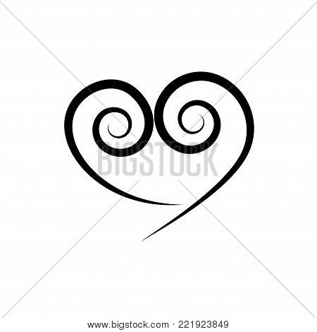 Heart Spiral Black Vector & Photo (Free Trial) | Bigstock