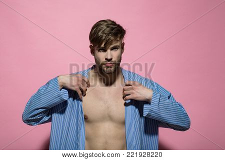 Handsome Man With Muscular Chest