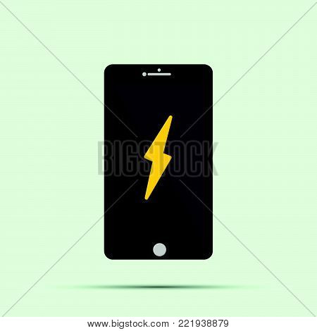 Mobile Phone Icon Vactor Alarm On The Screen