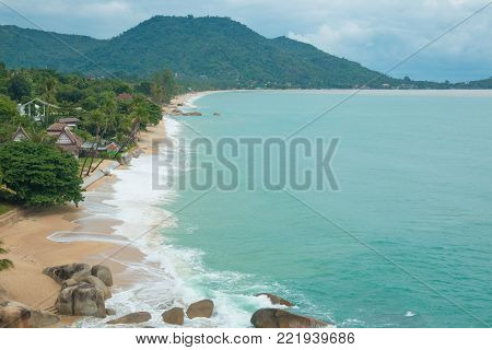 Beautiful tropical beach Lamai in Koh Samui, Thailand.