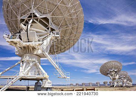 Radio Astronomy Observatory near Socorro, New Mexico.