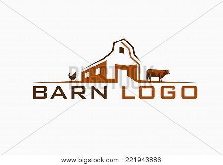Beautiful Barn or Farm Logo fully customizable