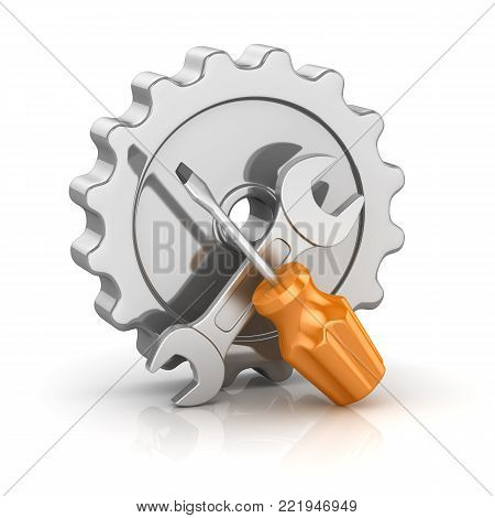 Screw Driver And Wrench With Gear