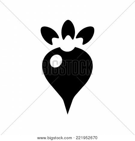 Beet root Icon in trendy flat style isolated on white background. symbol for your web site design logo, app, UI. Flat design Vector Illustration EPS