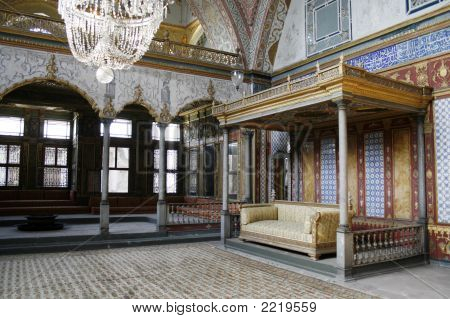 Audience Hall At Topkapi Palace In Istanbul