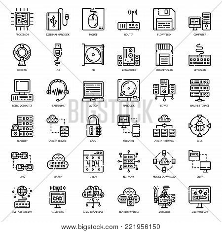 about computer icon, cloud technology, computer accessory, isolated on white background