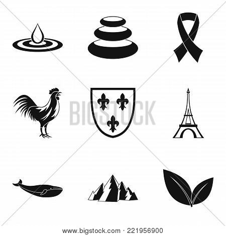 Standard icons set. Simple set of 9 standard vector icons for web isolated on white background