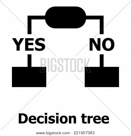 Decision tree icon. Simple illustration of decision tree vector icon for web.
