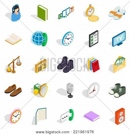 Beneficence icons set. Isometric set of 25 beneficence vector icons for web isolated on white background