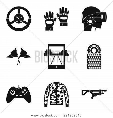 Reconstruction icons set. Simple set of 9 reconstruction vector icons for web isolated on white background