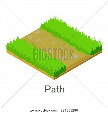 Path icon. Isometric illustration of path vector icon for web.