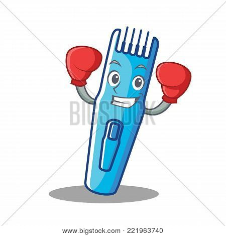 Boxing trimmer character cartoon style vector illustration