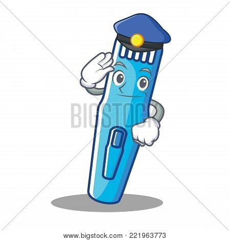 Police trimmer character cartoon style vector illustration