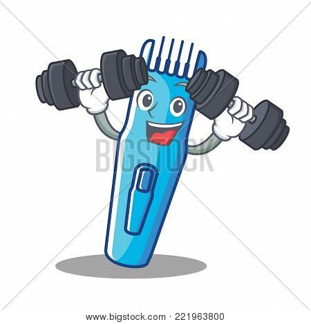 Fitness trimmer character cartoon style vector illustration