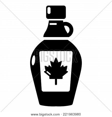 Maple syrup icon. Simple illustration of maple syrup vector icon for web