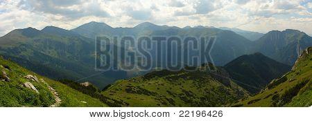 Tatras mountains panorama
