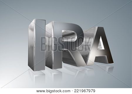 Accounting term - IRA  - Individual Retirement Account - 3D image