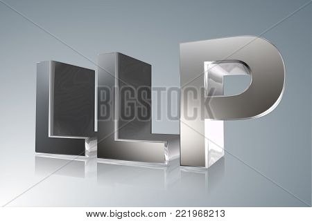 Accounting term - LLP- Limited Liability Partnership  - 3D image